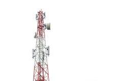 A torre de comunicação em Tailândia isolou-se no branco Imagem de Stock