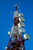 Torre de comunicações Fotos de Stock Royalty Free