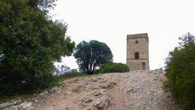 A torre de comunicações antiga do telégrafo Imagem de Stock