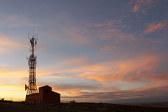Torre de comunicación imágenes de archivo libres de regalías
