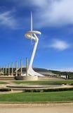 Torre de comunicación de Montjuic Fotos de archivo