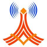 Torre de comunicación sin hilos ilustración del vector