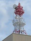 Torre de comunicación sin hilos Imágenes de archivo libres de regalías