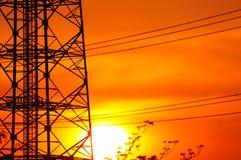 Torre de comunicaciones. Foto de archivo libre de regalías