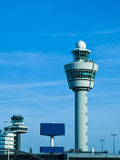 Torre de control de Schiphol, Amsterdam foto de archivo