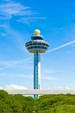 Torre de control del aeropuerto de Singapur Changi Imagen de archivo libre de regalías