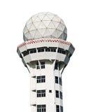 Torre de control del aeropuerto en blanco Fotografía de archivo libre de regalías