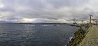 Torre de control del mar Imagen de archivo libre de regalías