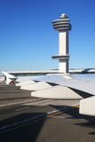 Torre de controlador aéreo en Juan F Kennedy International Airport Fotografía de archivo libre de regalías