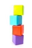Torre de cubos apilados Imágenes de archivo libres de regalías