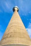 Torre de Düsseldorf el Rin Foto de archivo libre de regalías