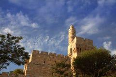 A torre de David (citadela) de david, Jerusalém Fotografia de Stock Royalty Free