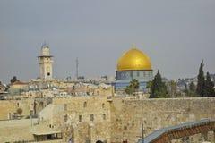 Torre de David e abóbada da rocha no Jerusalém Fotos de Stock Royalty Free