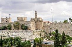 A torre de David, Jerusalém Imagem de Stock