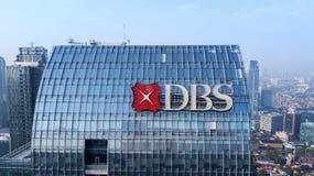 Torre de DBS situada em Jakarta sul fotos de stock royalty free