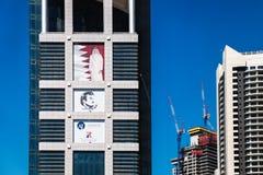 Torre de Dolphin Energy en Doha, Qatar imagen de archivo libre de regalías