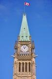 Torre de edifícios do parlamento, Ottawa da paz Imagens de Stock