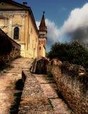 Torre de Eslovenia Piran Bell Foto de archivo libre de regalías