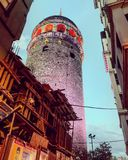 Torre de Estambul Galata foto de archivo
