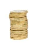 Torre de euro- moedas Fotografia de Stock Royalty Free