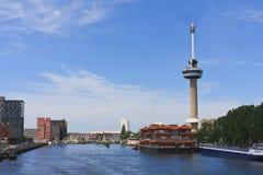 Torre de Euromast en la ciudad de Rotterdam Foto de archivo libre de regalías