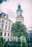 Torre de fogo famosa em Sopron, filtro análogo foto de stock royalty free