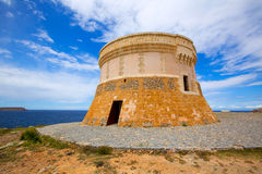 Torre de Fornells tower in Menorca at Balearic islands Stock Photography