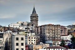 Torre de Galata en Ä°stanbul Fotografía de archivo