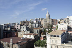 Torre de Galata en el distrito de Galata, ciudad de Estambul, Turquía Foto de archivo