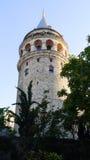 Torre de Galata na noite Fotografia de Stock Royalty Free