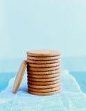 Torre de galletas digestivas imágenes de archivo libres de regalías
