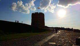 Torre de Gediminas em Vilnius fotografia de stock royalty free