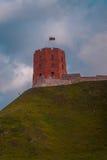 Torre de Gediminas em Vilnius, Lituânia imagem de stock royalty free