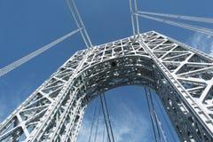 Torre de George Washington Bridge vista del camino Fotografía de archivo