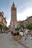 Torre de Giralda en Sevilla, España Imagen de archivo