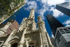 Torre de água velha, Chicago Imagens de Stock