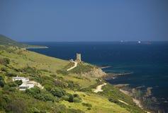 Torre de Guadalmesi, a Andaluzia, Espanha Fotografia de Stock