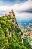 Torre de Guaita em São Marino Fotografia de Stock Royalty Free