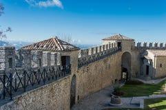 Torre de Guaita de San Marino Italy foto de archivo