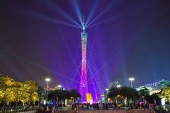 Torre de Guangzhou en 2016 Años Nuevos lunares Foto de archivo libre de regalías