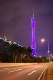 Torre de Guangzhou TV Foto de archivo libre de regalías