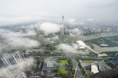 Torre de Guangzhou TV fotos de archivo libres de regalías