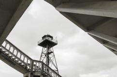 Torre de guardia de Alcatraz, San Francisco, California Imagen de archivo libre de regalías