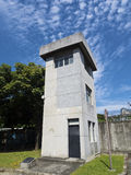 Torre de guardia de Jing-Mei Human Rights Memorial y del parque cultural Foto de archivo libre de regalías