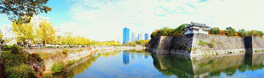 Torre de guardia de Osaka Castle Fotos de archivo libres de regalías