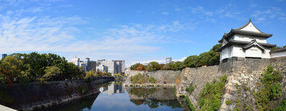 Torre de guardia de Osaka Castle, Osaka Foto de archivo