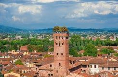 Torre de Guinigi en Luca imágenes de archivo libres de regalías