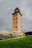 Torre de Hércules de la Coruña, España Foto de archivo libre de regalías