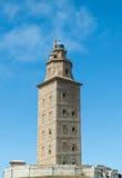 Torre de Hércules, La Coruna Foto de archivo libre de regalías