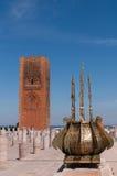 Torre de Hasan en Rabat Imágenes de archivo libres de regalías